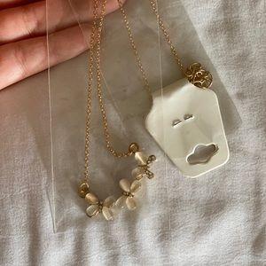 Golden delicate necklace